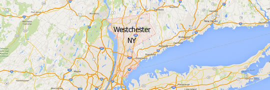 Map of Westchester NY.